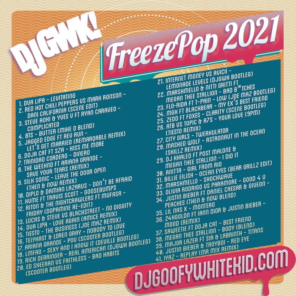 FreezePop 2021 Tracklist